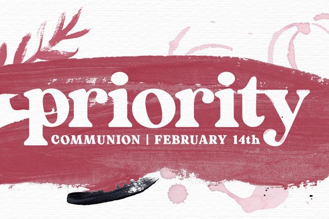 Priority – Communion